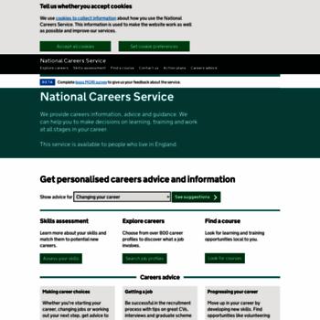 Nationalcareersservice.direct.gov.uk thumbnail