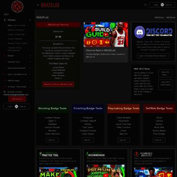 nba2klab com at WI  Nba2kLab - Nba2k Badge and Attribute tests