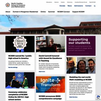 Ncssm.edu thumbnail