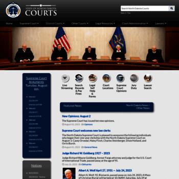 Ndcourts.gov thumbnail
