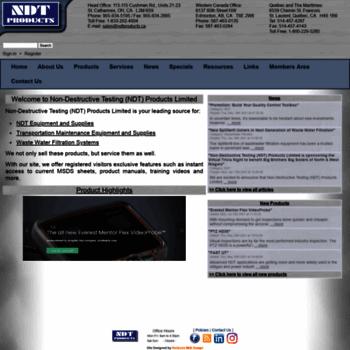 Ndtproducts.ca thumbnail