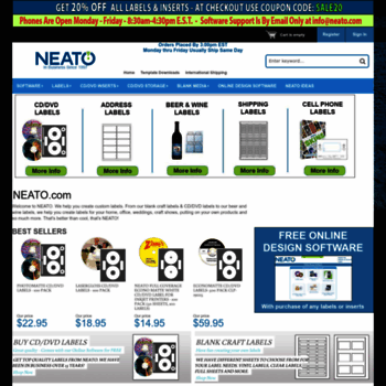 Neato Com At Wi Neato Sells Blank Dvd Cd Labels Labeling Software Custom Device
