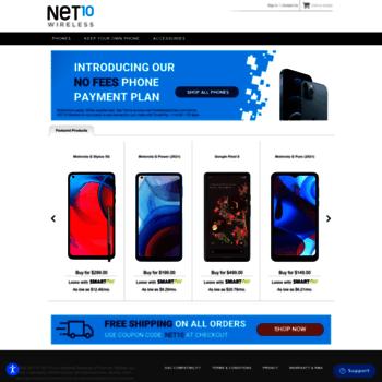 Net10wirelessphones.com thumbnail