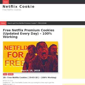 netflixcookie com at WI  Netflix Cookie | Free Netflix Cookies