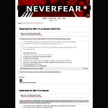 Neverfear.org thumbnail