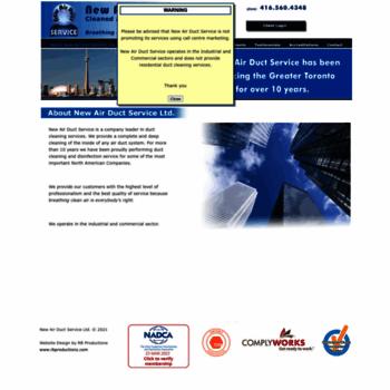 Newairductservice.ca thumbnail