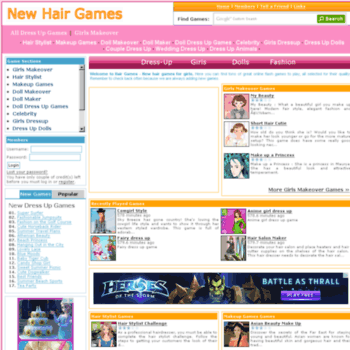 Newhairgames.com thumbnail