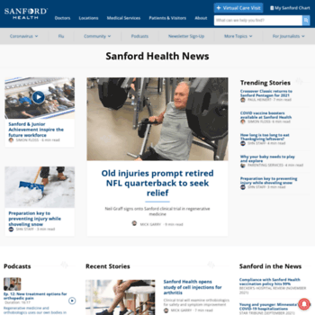 News.sanfordhealth.org thumbnail
