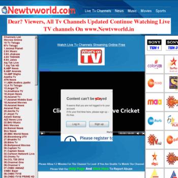 newtvworld cc at WI  Live Tv Channels | Watch Live TV Online | Live