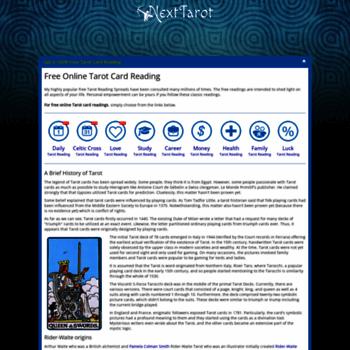 nexttarot com at WI  Get a Free Online Tarot Card Reading