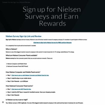 nielsenchinaforum com at WI  Nielsen Surveys Paid Surveys | Sign up