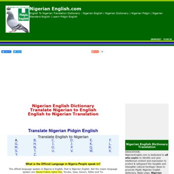 nigerianenglish com at WI  Nigerian English Dictionary
