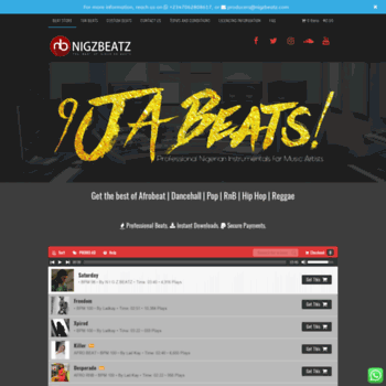 nigzbeatz com at WI  Download Nigerian beats | Nigerian Instrumental