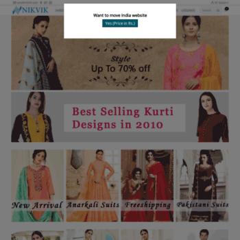 0407b5e104d nikvik.com at WI. Nikvik- Traditional Indian Dresses