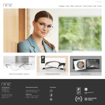 dd3c1503d114 nine-eyewear.com at WI. nine eyewear - Danish design - handcrafted ...