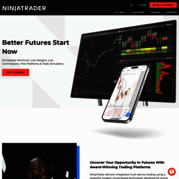 ninjatrader com at WI  Trading Software & Futures Broker | NinjaTrader