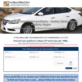 nissancvttransmissionproblems com at WI  Nissan CVT transmission