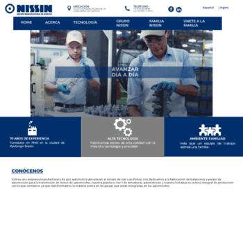 Nissin-mfg.com.mx thumbnail