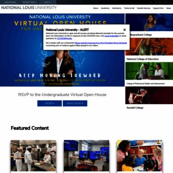 nl edu at WI  National Louis University