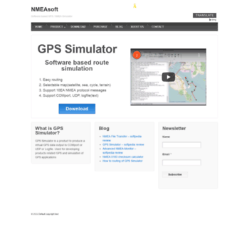 nmeasoft com at WI  software based gps/nmea simulator