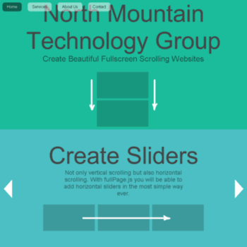 nmtechgroup com at WI  fullPage js One Page Scroll Sites