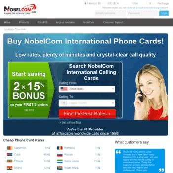 Nobelphonecards.eu thumbnail