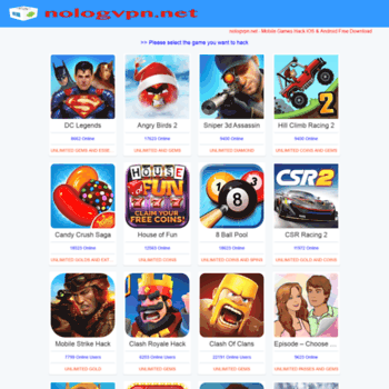 nologvpn net at WI  nologvpn net - Hack Mobile Games iOS and