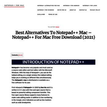 Notepadplusplusformac.com thumbnail