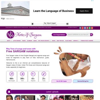notesandsargam com at WI  Notes & Sargam : play instrumental