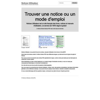 Notices Utilisateurcom At Wi Moteur De Recherche Français