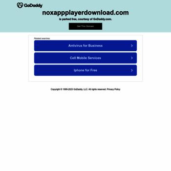 noxappplayerdownload com at WI  Nox App Player Download Free for PC
