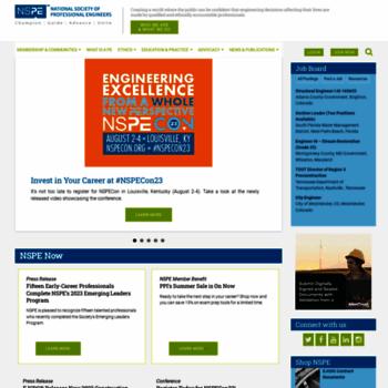 Nspe.org thumbnail