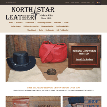 5d18974db36d nstarleather.com at WI. Quality Leather Goods Made in USA- North ...