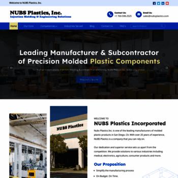 nubsplasticsinc com at WI  Plastic Manufacturing Companies
