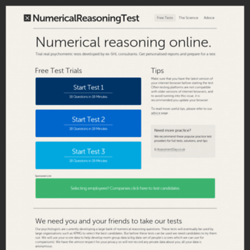 numericalreasoningtest org at WI  Numerical Reasoning Test