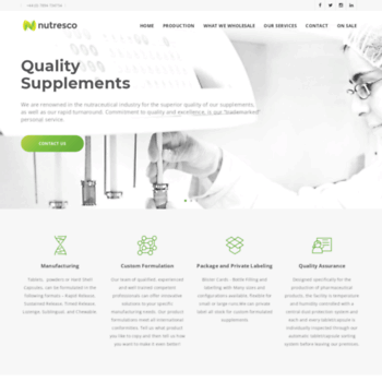 nutresco com at WI  Nutresco Private Label Supplements and