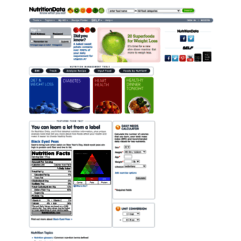 Nutritiondata.self.com thumbnail