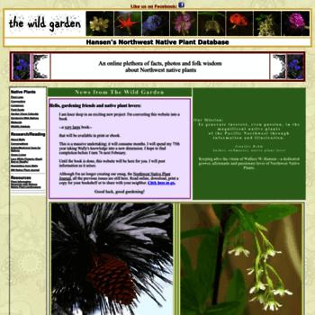 nwplants com at WI  The Wild Garden: Hansen's Northwest
