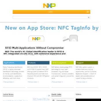nxp-rfid com at WI  NXP-RFID –Uses, Products, Support