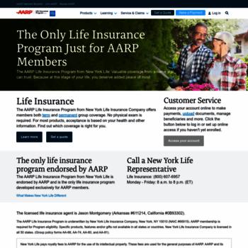 New York Life Aarp >> Nylaarp Com At Wi Aarp Life Insurance Program From New York