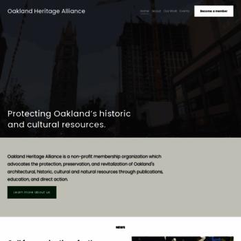 Oaklandheritage.org thumbnail