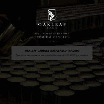Oakleafcandles.co.uk thumbnail
