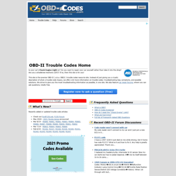 obd-codes com at WI  OBD-Codes OBD-II Trouble Codes - DTC
