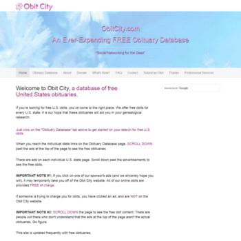 Obitcity.com thumbnail