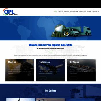 oceanpridelogistics com at WI  Ocean Pride Logistics India