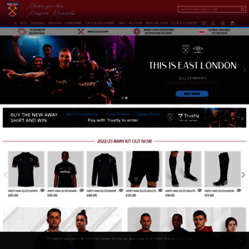 d2d7824a officialwesthamstore.com at WI. Official West Ham United Store - buy ...