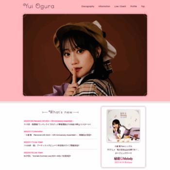 Ogurayui.jp thumbnail