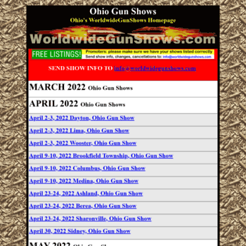 Ohiogunshows.us thumbnail
