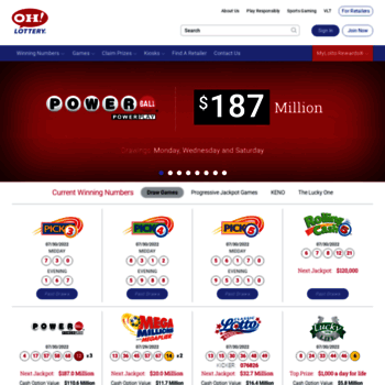 ohiolottery com at WI  Welcome to the Ohio Lottery! :: The
