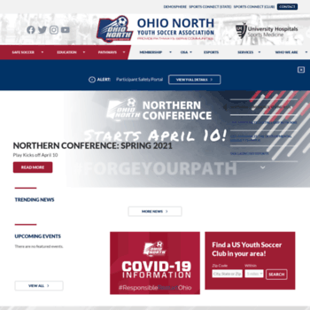 Ohionorthsoccer.org thumbnail